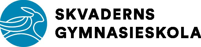 Blå liggande logotyp för skolan